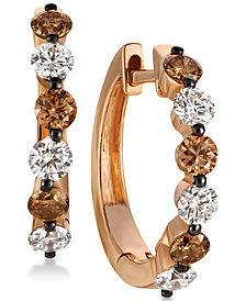 Le Vian Chocolatier® Diamond Hoop Earrings (1-1/10 ct. t.w.) in 14k Rose Gold