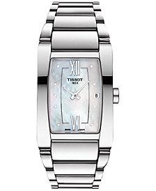 Tissot Women's Swiss Generosi-T Diamond Accent Stainless Steel Bracelet Watch 27mm T1053091111600