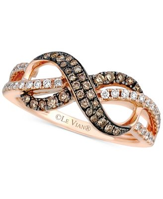 Le Vian Chocolatier Diamond Infinity Ring 3 8 ct t w in 14k
