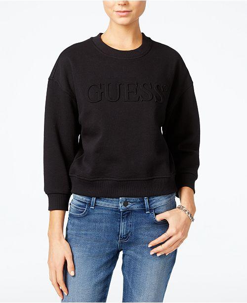 daf2950d72a GUESS Originals Cropped Logo Sweatshirt   Reviews - Tops ...