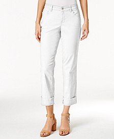 Curvy Cuffed Capri Jeans, Created for Macy's