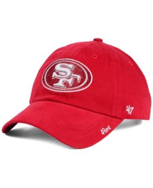 '47 Brand Women's San Francisco 49ers Glitter Logo Clean Up
