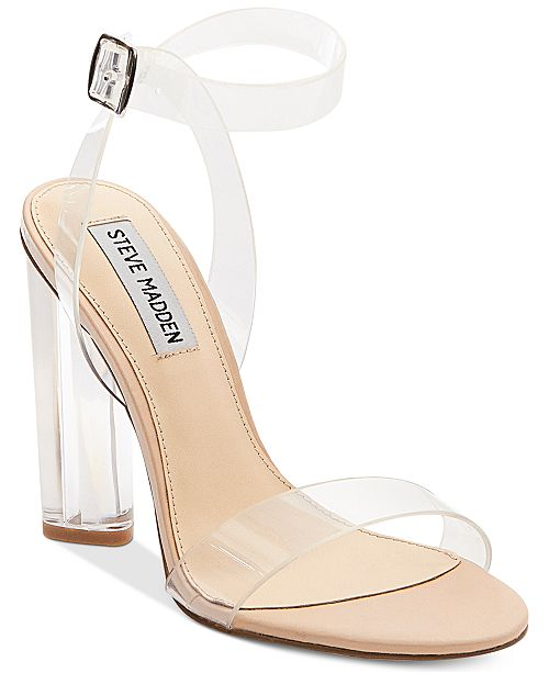 45a5a3e7ebf0 Steve Madden Women s Teena Lucite Dress Sandals   Reviews ...