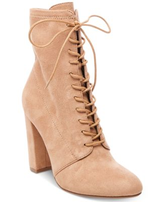 Lace Up Booties With Heel gm34xYUV