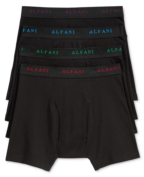 071bd0ff93c8 ... Alfani Men's 4 Pack. Cotton Boxer Briefs, Created for Macy's ...