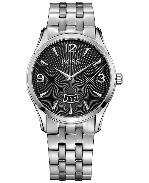 BOSS Hugo Boss Men's Commander Stainless Steel Bracelet Watch 41mm 1513429