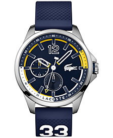 Lacoste Men's Capbreton Blue Rubber Strap Watch 46mm 2010897