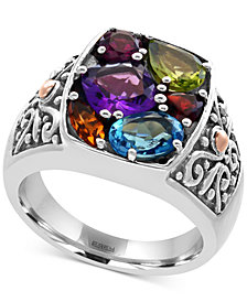 EFFY® Multi-Gemstone Statement Ring (3 ct. t.w.) in Sterling Silver