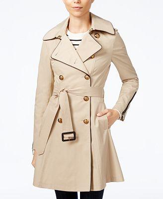 BCBGeneration Belted Skirted Raincoat