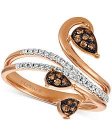 Le Vian Chocolatier® Diamond Vine Ring (1/4 ct. t.w.) in 14k Rose Gold