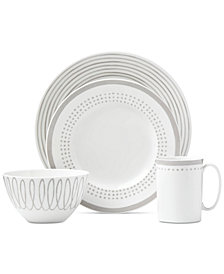 kate spade new york Charlotte Street Grey East Dinnerware Collection