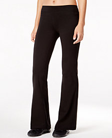 Ideology Flex Stretch Short-Inseam Bootcut Yoga Pants, Created for Macy's
