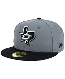 New Era Dallas Stars Gray Black 59FIFTY Cap
