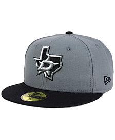 New Era Dallas Stars Gray Black 59FIFTY Cap