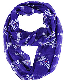 Forever Collectibles Baltimore Ravens All Over Logo Infinity Wrap Scarf