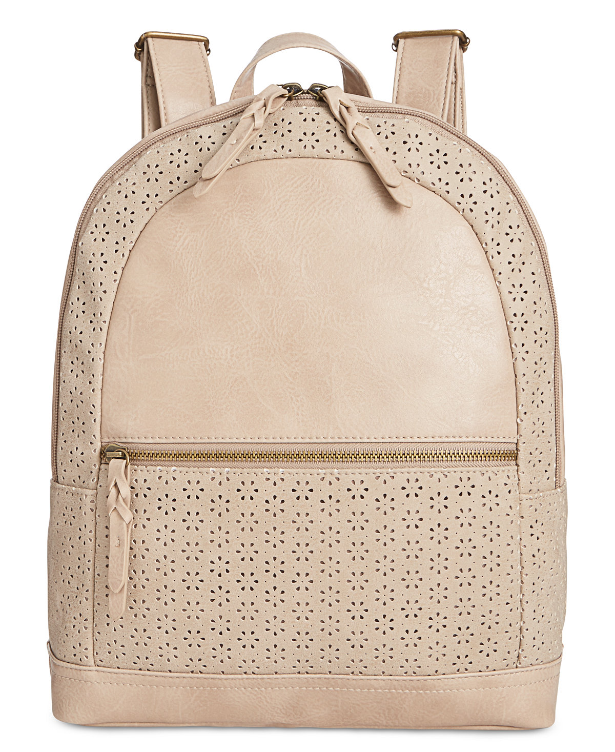 Style & Co Airyell Daisy Perforated Medium Backpack (Beige)