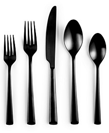 Black 20 Piece Flatware Set, Created for Macy's, Service for 4