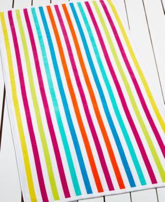 martha stewart collection st maarten stripe beach towel created for macyu0027s - Beach Towels On Sale