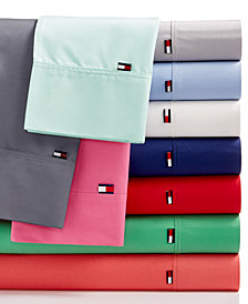 CLOSEOUT! Tommy Hilfiger Solid Core Sheet Sets