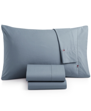 Image of Tommy Hilfiger Solid Core Queen Sheet Set Bedding