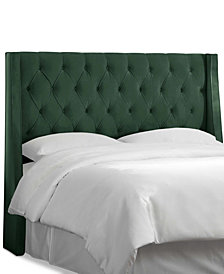 Marcone Queen Wingback Headboard, Quick Ship