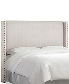 Loryan Full Nail Button Wingback Headboard, Quick Ship