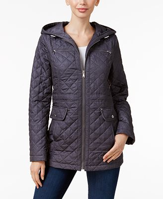 Laundry By Design Hooded Quilted Coat Coats Women Macys
