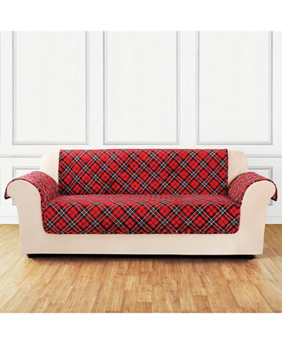 CLOSEOUT! Sure Fit Holiday Motifs Quilted Sofa Slipcover ... : quilted sofa - Adamdwight.com