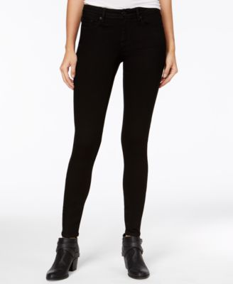 Juniors' Black Wash Super-Skinny Jeans, Created for Macy's