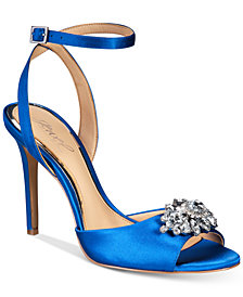 Jewel Badgley Mischka Hayden Embellished Sandals