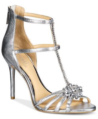 Jewel Badgley Mischka Hazel Strappy Evening Sandals - Sandals ...