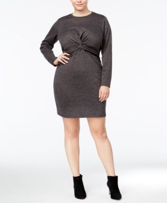 Whitespace Trendy Plus Size Twist-Front Dress