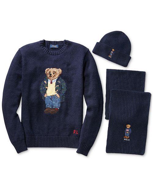 Polo Ralph Lauren Mens Polo Bear Wool Sweater 7d623ff4c30