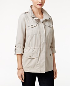 Style & Co Petite Utility Jacket, Created for Macy's