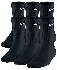 Men's Cotton Crew Socks 6-Pack