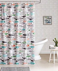 Sardinia Printed Cotton Shower Curtain