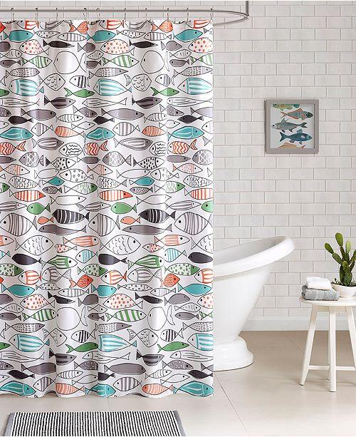 JLA Home HipStyle Sardinia Printed Cotton Shower Curtain