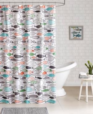 HipStyle Sardinia Printed Cotton Shower Curtain Bedding