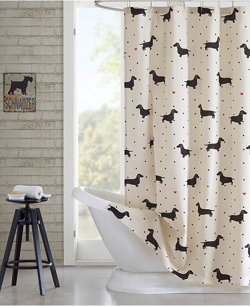 JLA Home HipStyle Olivia Printed  Cotton Shower Curtain