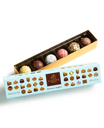 Godiva 6-Pc Patisserie Truffles Gift Box - Gourmet Food & Gifts - Dining & Entertaining - Macy's