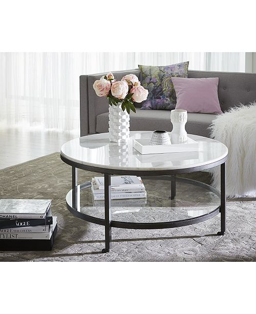 Furniture Stratus Round Coffee Table Created For Macy S