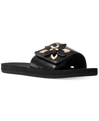 MICHAEL Michael Kors Heidi Embellished Flat Slide Sandals