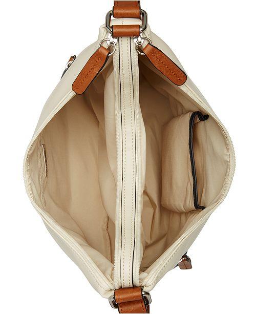 Accessoires cuir nappa en colorblockcree pourAvis Sacs a main Bernini Giani Ivoiremarineargent Sacoche QrtshdC