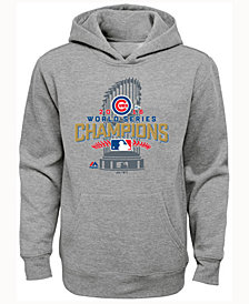 Majestic  Chicago Cubs World Series Locker Room Hoodie, Big Boys (8-20)