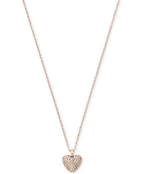 8ba41b24f5e1 Michael Kors Pavé Heart Pendant Necklace   Reviews - Fashion Jewelry ...