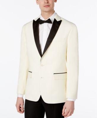Men white tuxedo jacket
