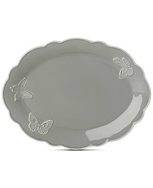 Butterfly Meadow Carved Collection Oval Platter