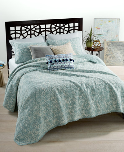 CLOSEOUT! Whim by Martha Stewart Collection Beach Washed ... : macys bedding quilts - Adamdwight.com