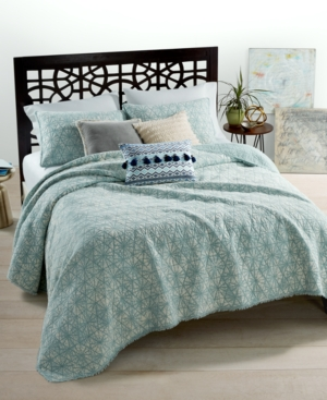 Closeout Whim by Martha Stewart Collection Beach Washed Reversible Boardwalk Blue FullQueen Quilt Created for Macys