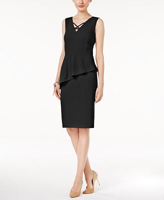 Thalia Sodi Asymmetrical Peplum Dress, Only at Macy's
